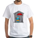 Superstitious Doggy - Open Um White T-Shirt