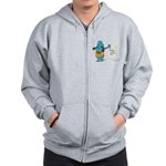 Superstitious Doggy - Friday Zip Hoodie