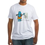 Superstitious Doggy - Friday Fitted T-Shirt