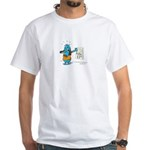 Superstitious Doggy - Friday White T-Shirt