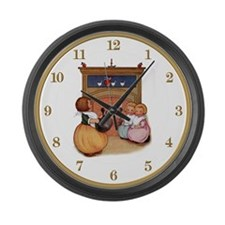 Polly Put The Kettle On Large Wall Clock