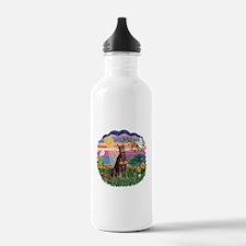 AutumnSun-Red Dobie Water Bottle