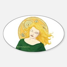 Grania and the Celtic spiral sun Oval Decal