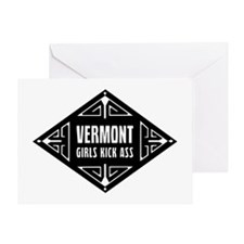 Vermont Girls Kick Ass Greeting Card