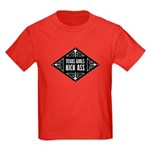 Texas Girls Kick Ass Kids Dark T-Shirt