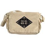 Texas Girls Kick Ass Messenger Bag