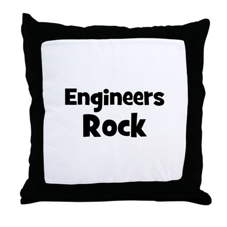 ENGINEERS Rock Throw Pillow