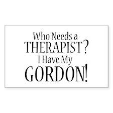 THERAPIST Gordon Decal