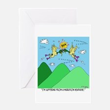 Migration Headache Greeting Card