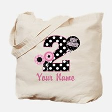 2nd Birthday Pink and Black Tote Bag