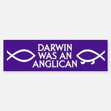 DARWIN WAS AN ANGLICAN Bumper Bumper Bumper Sticker