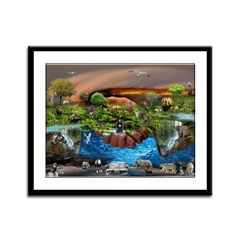 The Whole World In Our Hands Framed Panel Print