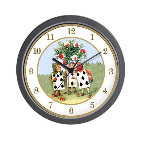Painting the Queen's Roses Wall Clock