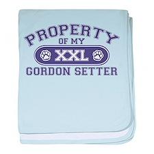 Gordon Setter PROPERTY baby blanket
