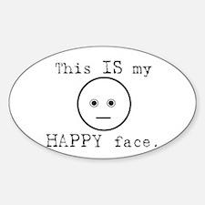 Happy Face Sticker (Oval)