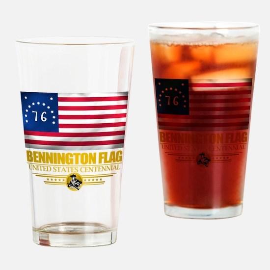 """Bennington Flag"" Drinking Glass"