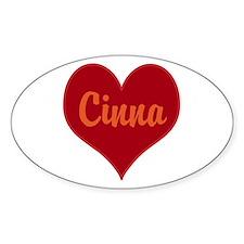 I Love Cinna Decal