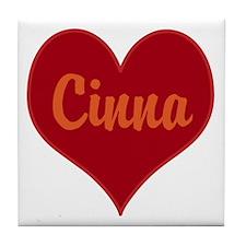 I Love Cinna Tile Coaster