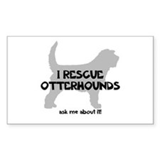 I RESCUE Otterhounds Decal