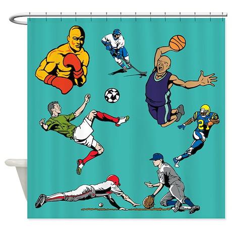 Sports Hero Shower Curtain