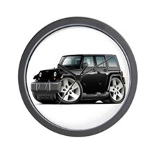 Wrangler Black Car Wall Clock