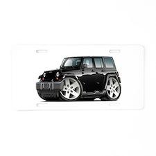 Wrangler Black Car Aluminum License Plate