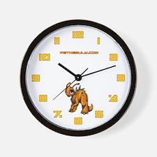 Orange Kronomantis Wall Clock