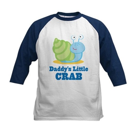 Daddy's Hermit Crab Kids Baseball Jersey