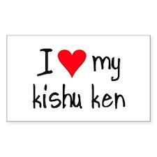 I LOVE MY Kishu Ken Decal