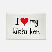 I LOVE MY Kishu Ken Rectangle Magnet