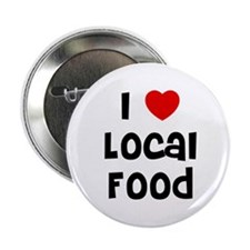 "I * Local Food 2.25"" Button (10 pack)"
