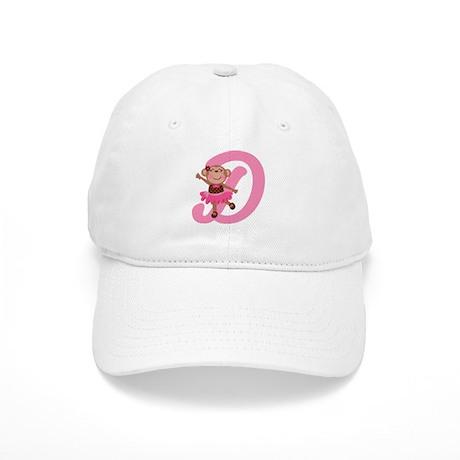 Letter D Monkey Monogrammed Cap
