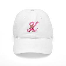 Letter K Monkey Monogrammed Baseball Cap