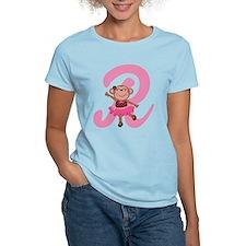 Letter R Monkey Monogrammed T-Shirt