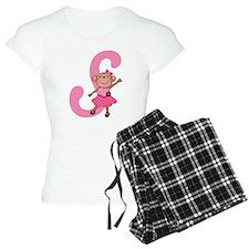 Letter S Monkey Monogrammed Pajamas