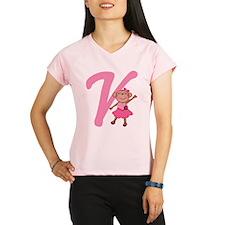 Letter V Monkey Monogrammed Performance Dry T-Shir
