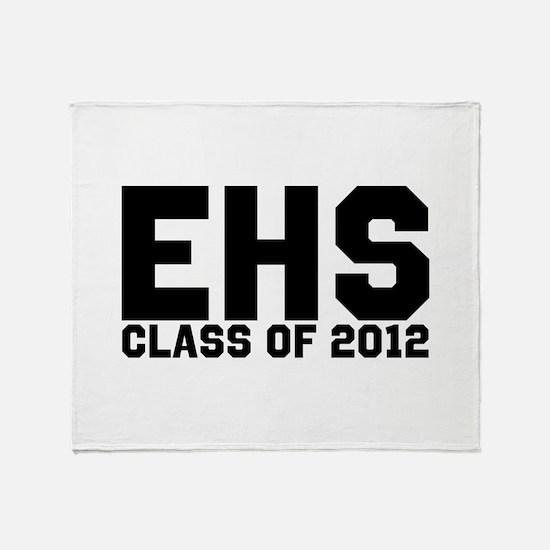 2012 Graduation Throw Blanket