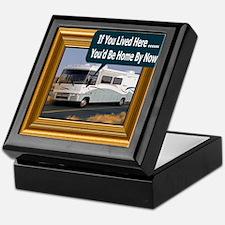 (Framed RV) If You Lived Here Keepsake Box