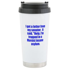 trapped in Marxist insane asy Travel Mug
