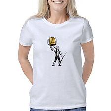 Burlesque-Fit Women's Plus Size V-Neck Dark T-Shir