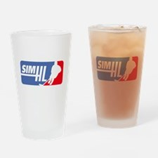 Cute Fantasy hockey Drinking Glass