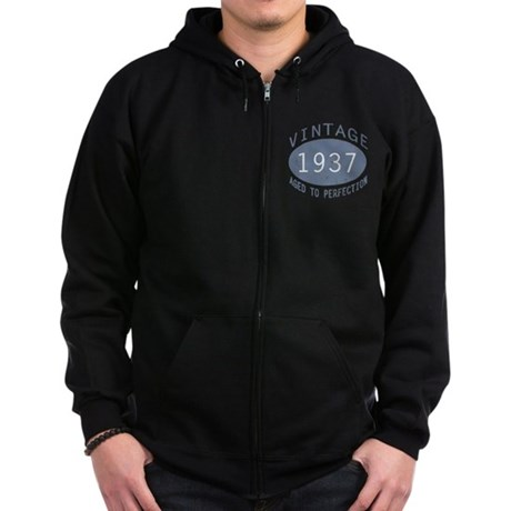 1937 Aged To Perfection Zip Hoodie (dark)