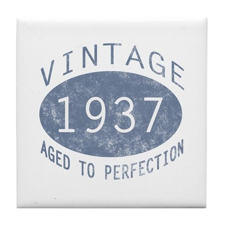 1937 Aged To Perfection Tile Coaster