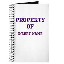 Customizable (Property Of) Journal