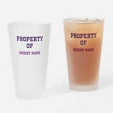 Customizable (Property Of) Drinking Glass