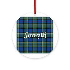 Tartan - Forsyth Ornament (Round)
