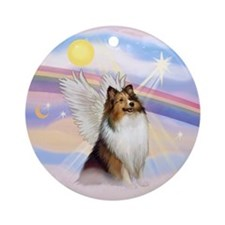 Sable Shetland Sheepdog Angel Ornament (Round)