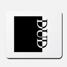 DUD Typography Mousepad