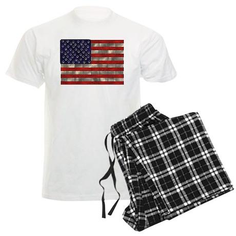 Metal US Flag Men's Light Pajamas