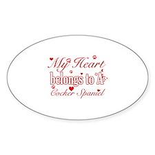 Cocker Spaniel Dog Designs Sticker (Oval)